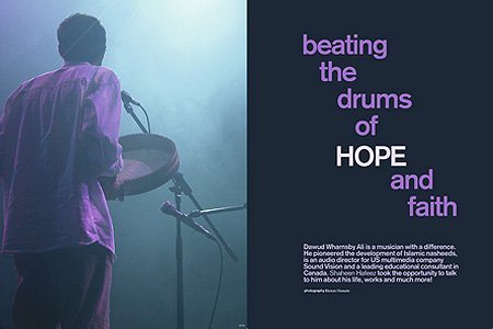 Beating the drums of hope and faith