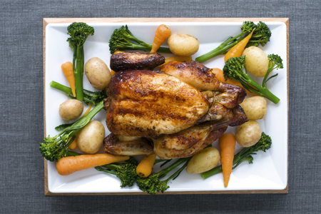 Honey & Mustard Roast Chicken with Seasonal Vegetables